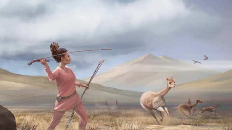Burial shows ancient women were hunters, too